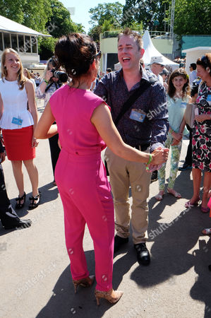 Rhs Chelsea Flower Show Press Day at the Royal Hospital Chelsea Susanna Reid and Chris Jarvis