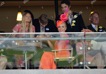 Royal Ascot 2013 at Ascot Race Course - Day One Katherine Jenkins with Her Boyfriend Adam Bidwell Watch the Races