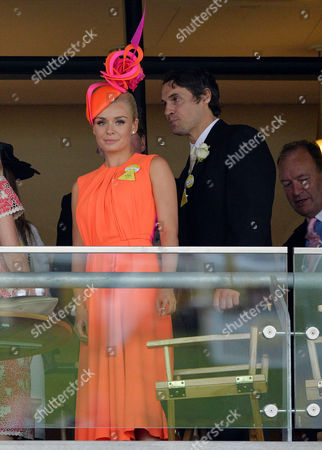 Royal Ascot 2013 at Ascot Race Course - Day One Katherine Jenkins with Her Boyfriend Adam Bidwell