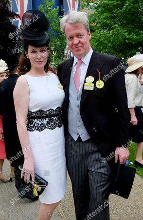 Royal Ascot 2013 at Ascot Race Course - Day One Charles Spencer 9th Earl Spencer with His Wife Karen Gordon