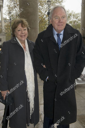 Service of Thanksgiving Celebrating the Life of Sir Alastair Burnet at St Martins in the Field Westminster Peter Sissons with His Wife Silva
