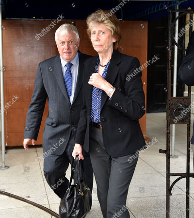 Service of Thanksgiving For Leon Brittan at the West London Synagogue Seymour Place London Chris Patten with His Wife Lavender Patten