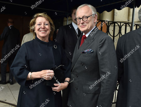 Service of Thanksgiving For Leon Brittan at the West London Synagogue Seymour Place London John Gummer with His Wife Penny