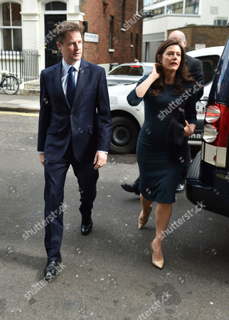 Service of Thanksgiving For Leon Brittan at the West London Synagogue Seymour Place London Nick Clegg with His Wife Miriam Gonz‡lez Dur‡ntez