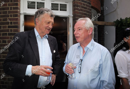 Spectator Magazine Summer Party at Their Offices in Old Queen Street Westminster William Shawcross and Francis Maude Mp