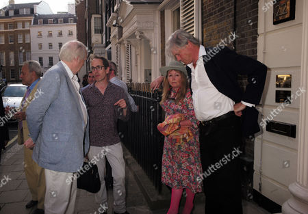 Spectator Magazine Summer Party at Their Offices in Old Queen Street Westminster Tim Rice and Bunter Somerset the Marquess of Worcester
