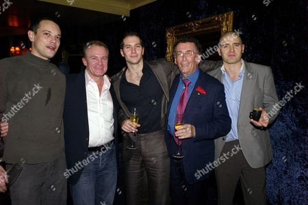 Terrence Higgins Trust Supper Club at Cafe De Paris Bobby Davro Robert Powell with Holby City Actors Luke Roberts Tom Chambers and Duncan Pow