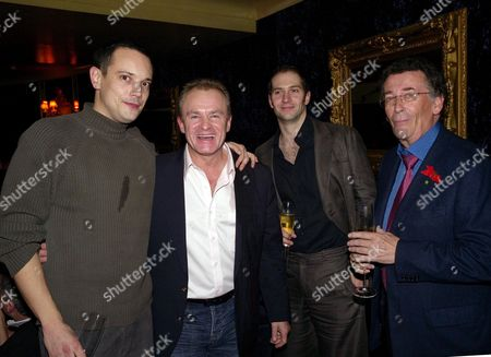 Terrence Higgins Trust Supper Club at Cafe De Paris Bobby Davro Robert Powell with Holby City Actors Duncan Pow and Tom Chambers