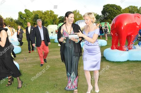 The Elephant Parade Dinner and Auction at the Royal Hospital Chelsea Victoria Atkin and the Dowager Countess of Caledon