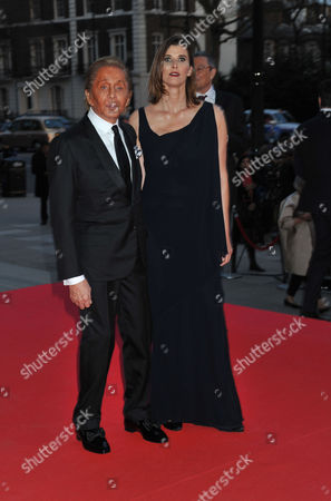 the Glamour of Italian Fashion Pre-opening Dinner at the Victoria and Albert Museum Cromwell Road West London Valentino Garavani & Princess Rosario of Bulgaria
