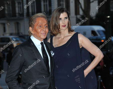 Stock Image of the Glamour of Italian Fashion Pre-opening Dinner at the Victoria and Albert Museum Cromwell Road West London Valentino Garavani & Princess Rosario of Bulgaria