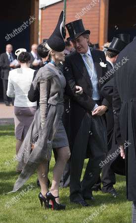 the Investec Derby Festival at Epsom Racecourse Epsom and Ewell in Surrey Daphne Guinness and Robin Hurlstone