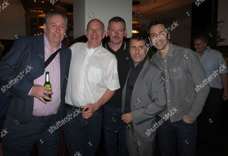 Stock Photo of 'The Ladykillers' Press Night After Party at the National Gallery Cafe Trafalgar Square Chris Mccalphy Simon Day John Gordon Sinclair Ralf Little and Con O'neill