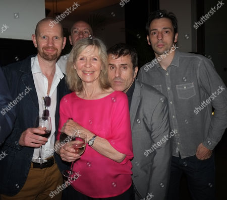 'The Ladykillers' Press Night After Party at the National Gallery Cafe Trafalgar Square Simon Day John Gordon Sinclair Ralf Little and Con O'neill with Angela Thorne and Director Sean Foley