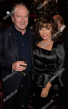the Launch of Passion For Life by Joan Collins at the Westbury Hotel Mayfair London Joan Collins & William Boyd