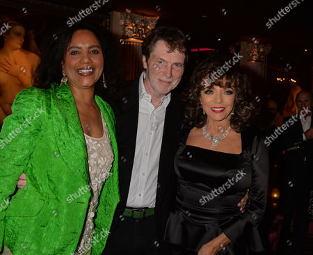 the Launch of Passion For Life by Joan Collins at the Westbury Hotel Mayfair London Joan Collins and Her Brother Bill Collins and Sister in Law Hazel