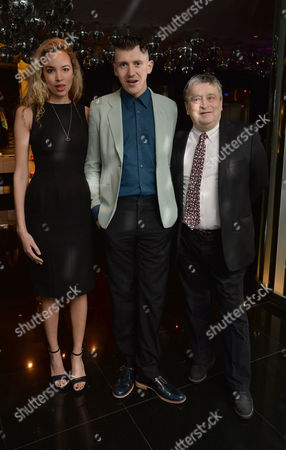 the Liberatum Cultural Honour For John Hurt at Spice Market in W London Leicester Square Phoebe Collings James & Matthew Stone with Norman Rosenthal