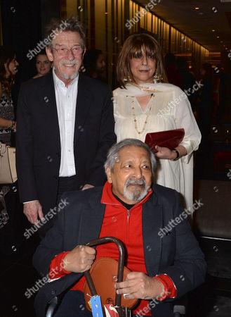 the Liberatum Cultural Honour For John Hurt at Spice Market in W London Leicester Square John Hurt with Vs Naipaul & His Wife Nadira Naipaul