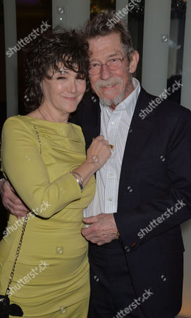 the Liberatum Cultural Honour For John Hurt at Spice Market in W London Leicester Square John Hurt and His Wife Anwen Rees Meyers