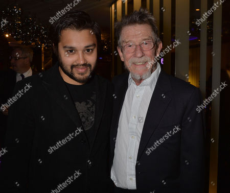 the Liberatum Cultural Honour For John Hurt at Spice Market in W London Leicester Square Pablo Ganguli with John Hurt