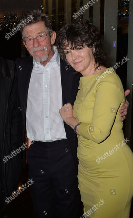 the Liberatum Cultural Honour For John Hurt at Spice Market in W London Leicester Square John Hurt with His Wife Anwen Rees Meyers