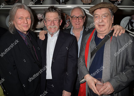 the Liberatum Cultural Honour For John Hurt at Spice Market in W London Leicester Square Christopher Hampton John Hurt Don Boyd & Stephen Frears