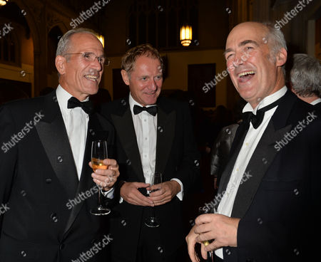 the Man Booker Prize For Fiction Presention at the Guildhall City of London Sandy Nairne Director of the National Portrait Gallery Sir Andrew Motion and Charles Saumarez Smith of the Raa