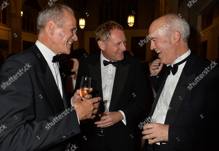 Stock Picture of the Man Booker Prize For Fiction Presention at the Guildhall City of London Sandy Nairne Director of the National Portrait Gallery Sir Andrew Motion and Charles Saumarez Smith of the Raa