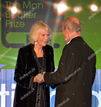 the Man Booker Prize For Fiction Presention at the Guildhall City of London Camilla the Duchess of Cornwall Presents Leather Bound Copies of Their Book to the Shortlisted Authors Jim Crace