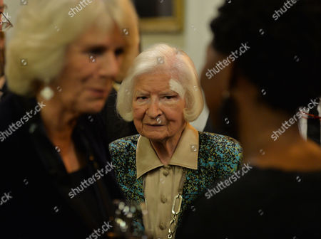 Stock Photo of the Man Booker Prize For Fiction Presention at the Guildhall City of London Camilla the Duchess of Cornwall at the Pre-award Reception with Pd James
