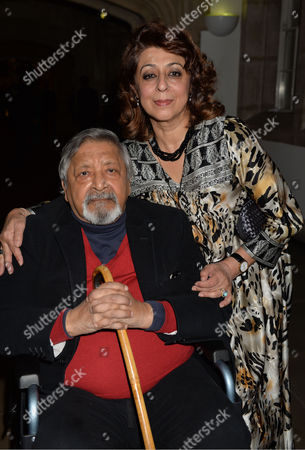 Stock Image of the Man Booker Prize For Fiction Presention at the Guildhall City of London Vs Naipaul and His Wife
