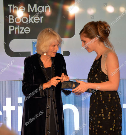 the Man Booker Prize For Fiction Presention at the Guildhall City of London Camilla the Duchess of Cornwall Presents Leather Bound Copies of Their Book to the Shortlisted Authors Eleanor Catton