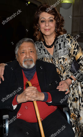 Stock Photo of the Man Booker Prize For Fiction Presention at the Guildhall City of London Vs Naipaul and His Wife