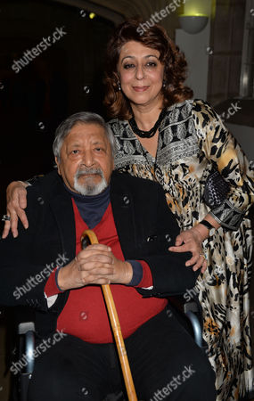 Stock Picture of the Man Booker Prize For Fiction Presention at the Guildhall City of London Vs Naipaul and His Wife