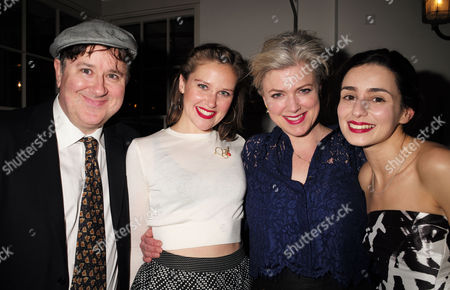 the Press Night Performance and Afterparty of 'The Railway Children' at King's Cross Theatre Kings Cross Station London Jeremy Swift Louise Calf Caroline Harker and Serena Manteghi