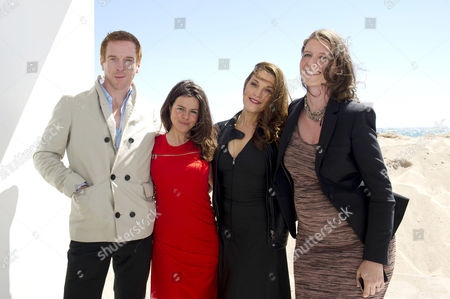 'The Silent Storm' Photocall at Nespresso Beach During the 66th Cannes Film Festival Damian Lewis Writer/ Director Corinna Villari Mcfarlane Exec Producer Barbara Broccoli and Producer Nicky Bentham