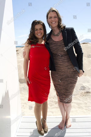 'The Silent Storm' Photocall at Nespresso Beach During the 66th Cannes Film Festival Writer/ Director Corinna Villari Mcfarlane and Producer Nicky Bentham