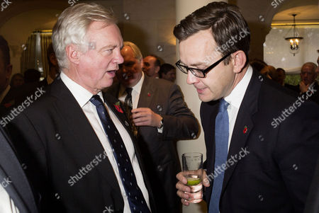 Stock Photo of the Spectator Awards at the Savoy Hotel David Davis and Andy Coulson