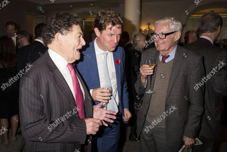 the Spectator Awards at the Savoy Hotel Lord Nigel Lawson Fraser Nelson and Alexander Chancellor
