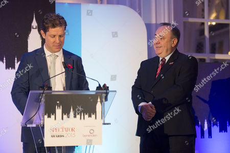the Spectator Awards at the Savoy Hotel Fraser Nelson and Alex Salmond