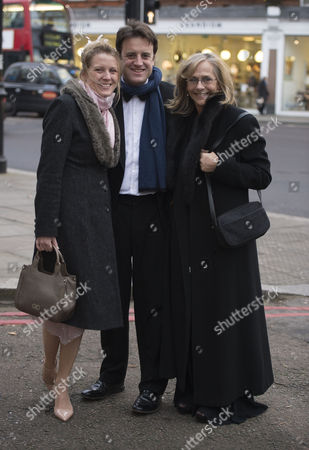 Stock Picture of the Wedding of Alice Eve to Alex Cowper-smith at Brompton Oratory Brompton Road West London Hilary Dwyer ( Heath) with Her Daughter Laura Heath and Laura's Husband