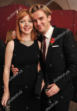 Theatre Awards Uk at the Banqueting House Whitehall Susie Stevens with Her Husband Dan Stevens
