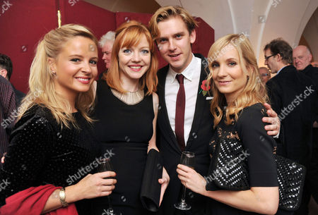 Theatre Awards Uk at the Banqueting House Whitehall Clare Marlowe Susie Stevens Dan Stevens and Joanne Froggatt