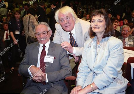 Meeting at the Institute of Education Cherie Blair with Her Father-in-law Leo Blair and Father Antony Booth