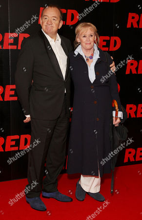 Uk Premiere of 'Red' at the Royal Festival Hall Southbank Mel Smith with His Wife Pam