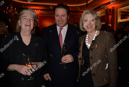 Stock Image of Veuve Clicquot Business Woman Award 2013 at Claridges Hotel Ballroom Brook Street Mayfair London Dame Marjorie Scardino Managing Director Moet Hennessy Uk Jo Thornton & Theresa May Mp Secretary of State For the Home Department and Minister For Women and Equalities