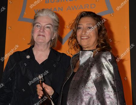 Veuve Clicquot Business Woman Award 2013 at Claridges Hotel Ballroom Brook Street Mayfair London Dame Marjorie Scardino & Dame Zaha Hadid