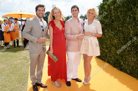 Veuve Clicquot Gold Cup at Cowdray Park Polo Club Jack Freud with His Wife Kate and Zafar Rushdie with His Girlfriend Natalie Coyle
