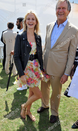 Veuve Clicquot Gold Cup Final at Cowdray Park Midhurst West Sussex Poppy Delevingne with Her Father Charles Delevingne