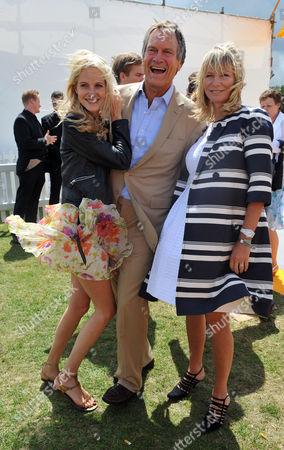 Veuve Clicquot Gold Cup Final at Cowdray Park Midhurst West Sussex Poppy Delevingne with Her Parents Charles & Pandora Delevingne
